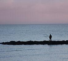 Dawn angler. by Paul Pasco