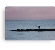 Dawn angler. Canvas Print