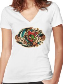 Spitshading 03 Women's Fitted V-Neck T-Shirt