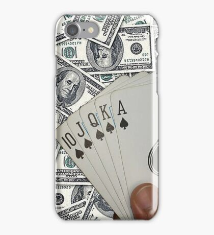 Royal Flush Spades iPhone Case/Skin