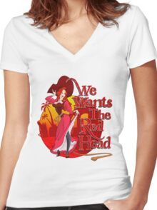 We Wants the Red Head Women's Fitted V-Neck T-Shirt
