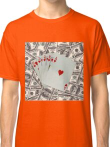Royal Flush Hearts Classic T-Shirt