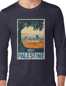 Vintage Travel Poster Visit Palestine Long Sleeve T-Shirt