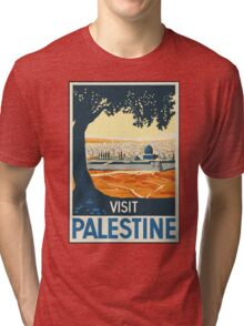 Vintage Travel Poster Visit Palestine Tri-blend T-Shirt