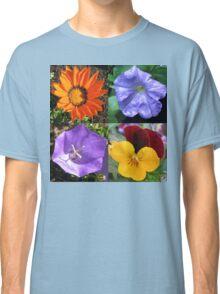 Quartet of Summer Flowers Collage Classic T-Shirt