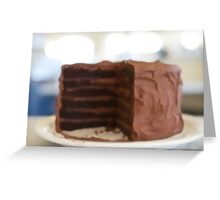 Dreaming of Chocolate Layer Cake Greeting Card