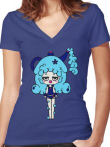 Bubble Teapot by Lolita Tequila Women's Fitted V-Neck T-Shirt
