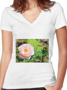 Blush of a Vine Women's Fitted V-Neck T-Shirt