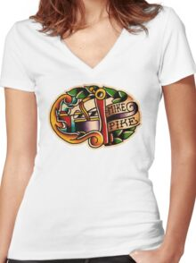 Spitshading 24 Women's Fitted V-Neck T-Shirt