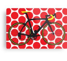 Bike Red Polka Dot (Big - Highlight) Metal Print