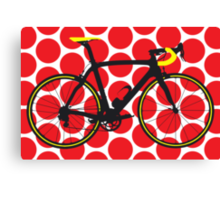 Bike Red Polka Dot (Big - Highlight) Canvas Print