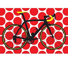 Bike Red Polka Dot (Big - Highlight) Photographic Print