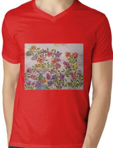 PAW-SCH - GARDEN BIRD BATH Mens V-Neck T-Shirt