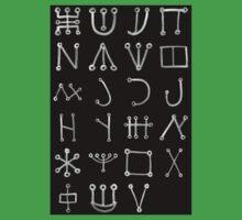 Heinrich Cornelius Agrippa Of Occult Philosophy 1651 Malachim Alphabet Collected Inverted Kids Tee