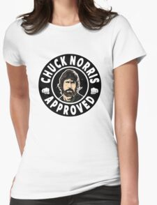 Chuck Norris Approved II. Womens Fitted T-Shirt