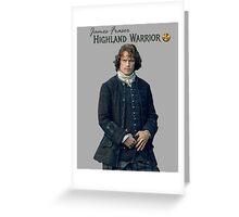 James Fraser/Highland Warrior Greeting Card