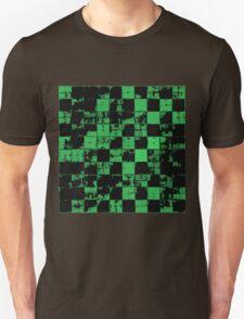 Green and Black Bricks Pattern Unisex T-Shirt
