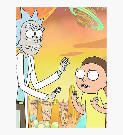 Rick and Morty - Poster Photographic Print