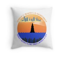 There's always a lighthouse... Throw Pillow