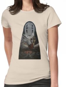 Kaonashi No Face Spirited Away | Sen To Chihiro No Kamikakushi Womens Fitted T-Shirt