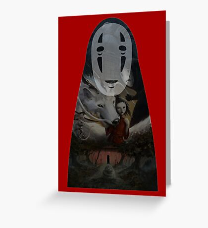 Kaonashi No Face Spirited Away | Sen To Chihiro No Kamikakushi Greeting Card