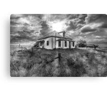 House on the Prairies - BW Canvas Print