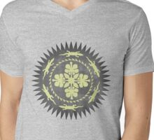 Alligator Hibiscus Mens V-Neck T-Shirt