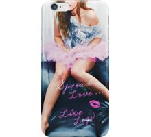 Spread Love - Pink iPhone Case/Skin