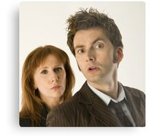 The Doctor and Donna Metal Print