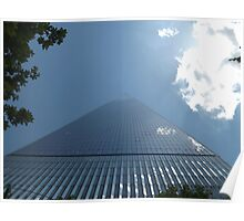 Looking Up from the Base of the New World Trade Center, Lower Manhattan, New York City Poster