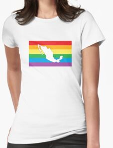 Mexico Rainbow Pride Flag Womens Fitted T-Shirt