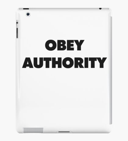OBEY AUTHORITY iPad Case/Skin