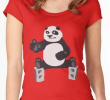 Fu panda Kung Women's Fitted Scoop T-Shirt