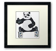 Fu panda Kung Framed Print