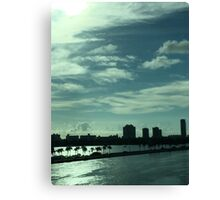 Miami Landscape Canvas Print