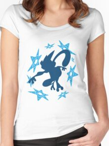 Greninja Shurikens Women's Fitted Scoop T-Shirt