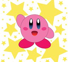 Kirby in the stars by MusicandWriting