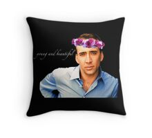 Young and Beautiful Throw Pillow