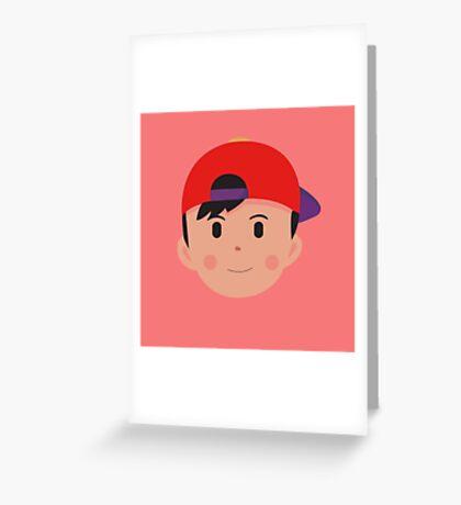 Clay Ness Head Greeting Card