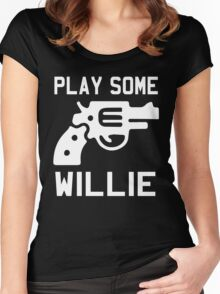 Willie Nelson Women's Fitted Scoop T-Shirt