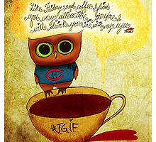 What my #Coffee says to me - May 16, 2014 Pillow by catsinthebag