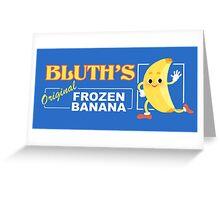 Frozen Banana Logo Greeting Card