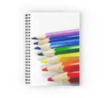 Pencil Crayons Spiral Notebook