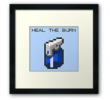 Heal The Burn Framed Print