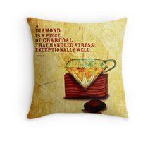 What my #Tea says to me - December 10, 2013 Pillow Throw Pillow
