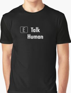 Skyrim - Talk (White) Graphic T-Shirt