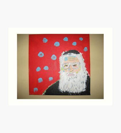 Older Jewish Man (selfie) Art Print