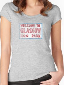 Glasgow Zoo tshirt, Glasgow  Women's Fitted Scoop T-Shirt