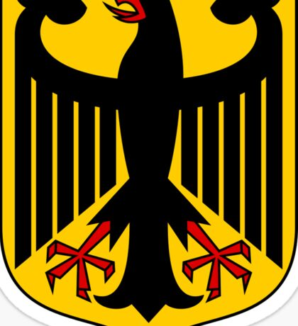 German Coat of Arms - Olympic Symbol Sticker