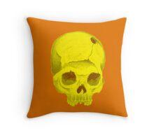 yellowskull pillow Throw Pillow